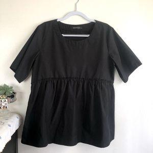 Cotton babydoll blouse